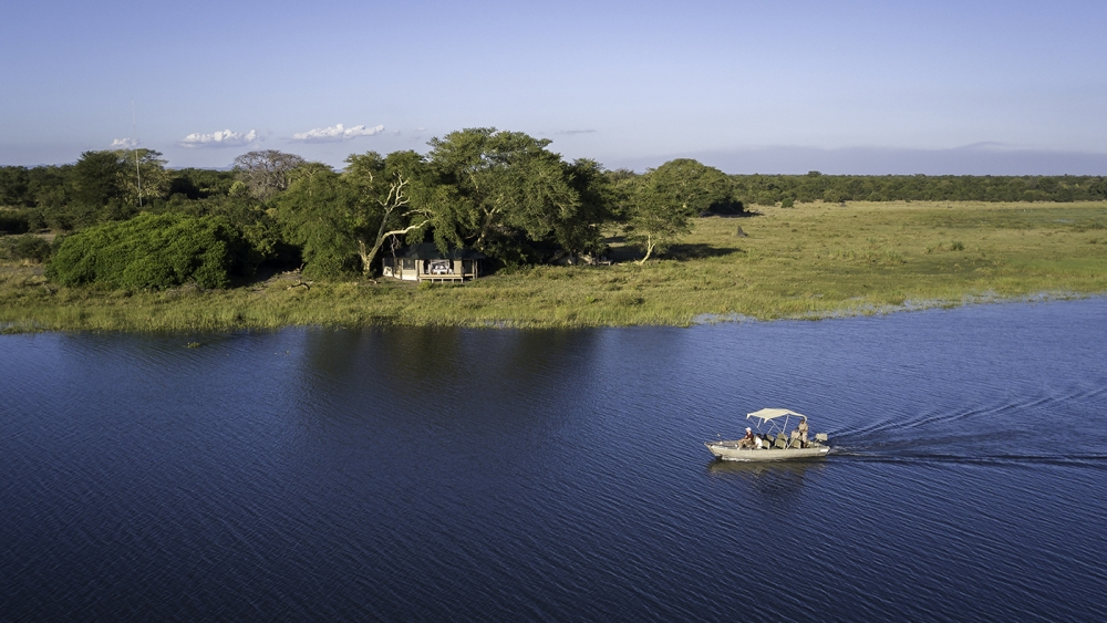Boating on the Shire River at Kuthengo Camp, Robin Pope Safaris